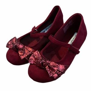 American Eagle Toddler Girls Red Sparkly Shoes